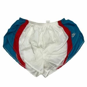 RARE Nike red white and blue running shorts